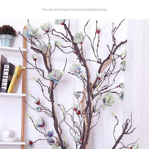 DIY Craft Home Garden Wedding Party Decor Artificial Magnolia Vine Silk Magnolia Garland Artificial Flowers