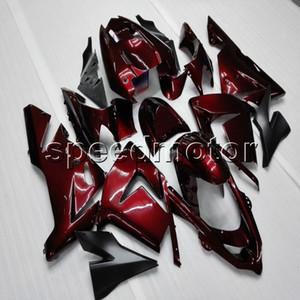 Carénage de moto rouge 23colors + Botls pour Kawasaki ZX10R 204 2005 ZX-10R 04-05 kit de plastique ABS