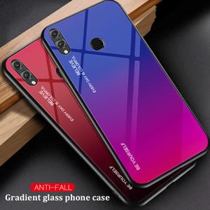 Caso Gradiente vidro temperado telefone para IPhone 11 Pro Max XR XS MAS XS 7/8 Plus 6 6s Além disso Soft Cover Bumper Protective