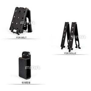 FMA táctica universal de forma rápida Mag Pouch Revista Clip de montaje Base de ayuda para el sistema de cinturón de Molle envío