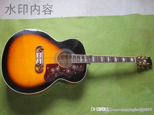 Free shipping new Acoustic guitar SJ200 VS sunset color 43 inch with fisherman pickup electric guitar HONGYU