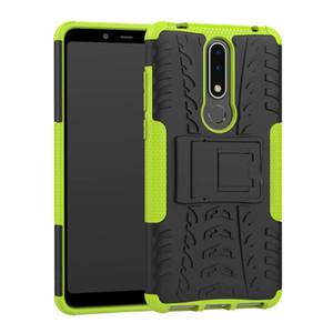 Для Nokia 3.1 Plus Case Качество Стенд Прочный Комбинированный Гибридный Броня Кронштейн Влияние Кобура Защитный Чехол Для Nokia 3.1 Plus