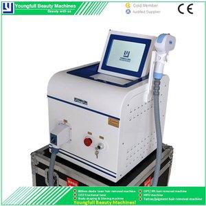 808 nm Diode Laser Refrigeration Compressor Sapphire Cabelo Rápida Remoção de Sun danos Acne Tratamento Pigment Redução salão de beleza máquina