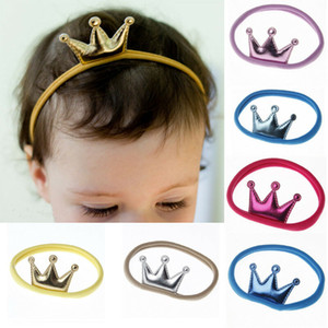 Unisex Baby Toddler Girls Boys Crown Hairband Elastic Nylon Headband Headwear