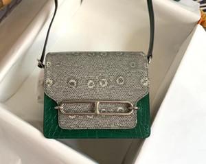 whosale orginal Green alligator+Lizard skin design handbag,designed purse, shoulder bag from factory directly, fast delivery