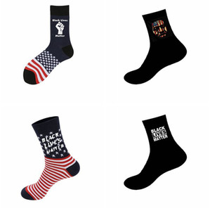 I Cant Breathe socks women men Black Lives Matter George Freud print socks 4 style LJJK2181