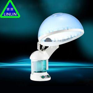 Linlin Ozone Aroma Steaming Facial Cara Sauna Dispositivo de Humectación de la Piel de la Sauna Con Crema de Tratamiento de Cabello Spray Pipe Giratorio J190706