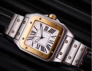 2020 homens relógios de luxo Top Marca Men Square Relógios Genebra Aço inoxidável Genuine relógios de quartzo alta dos homens da qualidade relógio