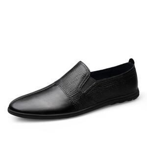 Fashion Casual Mocassini da uomo in vera pelle da uomo scarpe casual per il tempo libero appartamenti mocassini maschi mocassini mocassini incendi maschili scarpe da guida HC-623
