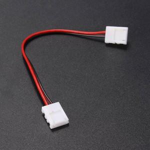 솔더 연결을 위해 2 핀 8mm Led 스트립 연결 액세서리 어댑터의 경우 단일 컬러 Led 스트립 빛 5050 Smd을 없음 필요