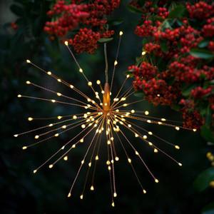 Fogos de artifício Solar Luzes Da Corda 200 LED Lâmpada Solar 8 Modo de Luzes LED Decoração de Controle Remoto XMAS de Luz para o Partido Bar Natal GGA2519