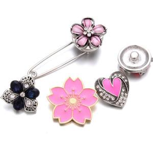 10pcs 2019 New Snap Jewelry Trendy Snap Charm Broche Fit 18mm Metal Charms Button Snaps DIY Joyería Hallazgos