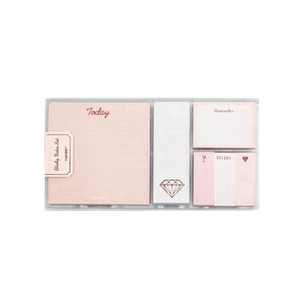 Rose Gold Memo Pad Set Cute Post Sticky Notes Notepads Set Fashion Creative Gift Office Accessories Stationery Store