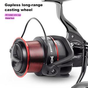 4.9: 1 Spinning Wheel Balıkçılık Reel ES9000 ES10000 ES11000 Metal Gövde Karbon Elyaf Drag 18kg Çok düşük olasılık Balıkçılık Reel