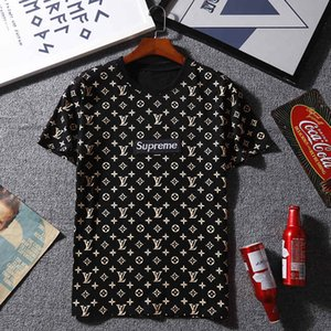 T-shirt a maniche corte T-shirt in cotone stampato Abbigliamento da uomo Vendita calda Cotone Novità T-shirt estiva da uomo Taglie forti S-2XL.