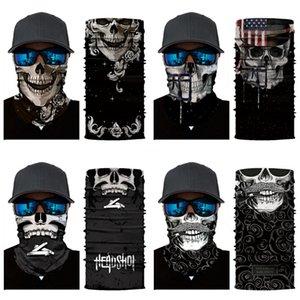 Cyclisme en plein air crâne écharpe masque magique Headskull écharpe Ski Snowboard Wind Cap Bandeau Police Cyclisme Cagoules Turban Motorcycle Fa # 69 # 265