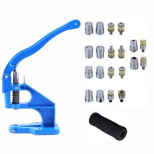 Pulsanti 1pc metallo Snap Rivetti jeans Bottoni occhielli Die Macchina della pressa per installare Punching macchina della pressa stampo + 1pc Glove
