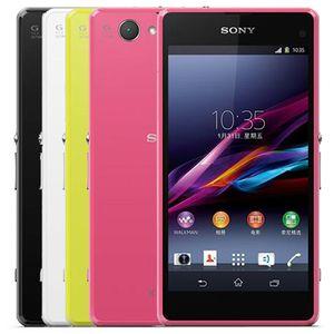"""Reformadas original Sony Z1 Compact D5503 4.3"""" teléfono celular Quad Core 2 GB de RAM 16 GB de ROM 20.7MP cámara 4G androide abierto DHL 10pcs"""