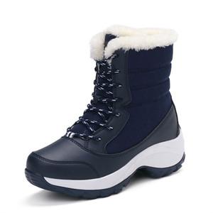 Frauen Schnee Stiefeletten Plüsch Wasserdichte Winter Knöchel Schneeschuhe Frauen Plattform Winter Schwarze Schuhe Mit Starken Pelz Botas Mujer