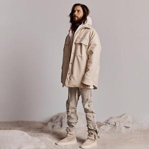 Beige Noir 20SS Dernières Hip hop veste surdimensionnée Streetwear manteaux de bombardiers d'automne