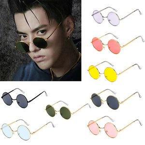 Round frame trend sunglasses Korean retro glasses fashion for men Driver Goggles Brand Designer Sunglasses Travel Accessories