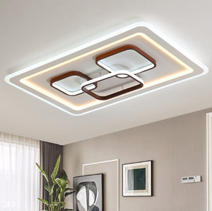 Square / Retângulo Modern lustres Luster LED ceiing lâmpadas de iluminação para sala de estar Quarto Plafon Lâmpadas Superfície Montada Iluminação LLFA