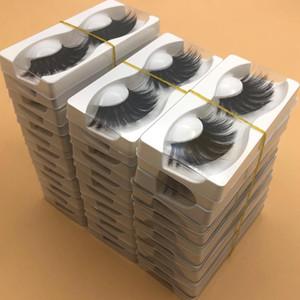 Vente en gros 25 mm 3D Mink Lashes Longueur extra Fluffy Vison Cils Big dramatique Volumn Cils Strip épais Faux Cils