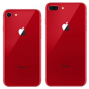 Red Color Refurbished Original Apple iPhone 8   8 Plus With Fingerprint iOS A11 Hexa Core 64 256GB ROM 12MP Camera 4G LTE Smart Phone 1pcs