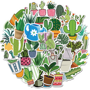50 PCS Mixed Car Stickers Cactus Green Plants For Skateboard Laptop Helmet Pad Bicycle Bike Motorcycle PS4 Notebook Guitar PVC Fridge Decal