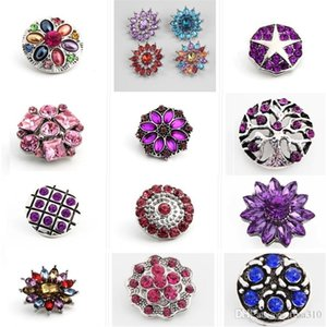Newest 100PCS Lot 63 styles High Quality Luxurious Rhinestones Metal Snap Buttons Mixed Styles DIY Snaps Charms Jewelry accessories 4058