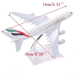 Air Emirates A380 Airlines Airplane Airbus 380 Airways 16cm Alloy Metal w Stand Aircraft M6-039 Model Plane Y200428