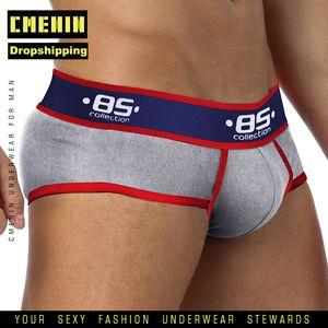 CMENIN New Marque Cotton Sexy Gay Men Underwear Bikini slips homme pour Dropshipping