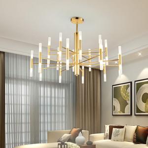 Modern Fashion Designer-Schwarz-Gold führt Decke Art Deco Hängeleuchter-Licht-Lampe für Küche Wohnzimmer Loft Schlafzimmer