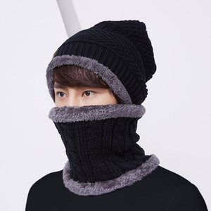 Hot New Warm Knit Beanie Scarf Set Plush Hat Neckerchief Set Women Men Sports Hiking Camping Cycling Skull Cap Outdoor Sports Eq