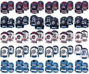 Winnipeg Jets Jerseys Mens 33 Dustin Byfuglien Jersey 26 Blake Wheeler 55 Mark Scheifele Womens Ice Hockey Jerseys Stitched Youth