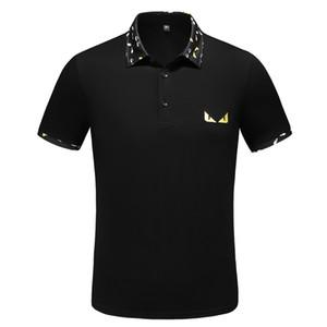 19SS mode Hommes Marque Polo Designer de luxe Polo T-shirt de la rue de broderie peu d'impression Vêtements Medusa Tees