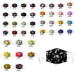 40 Stiller Ayçiçeği Çiçek Nefes Ağız Maskeleri Maske yazdır PM2.5 Pamuk Yüz maskesi ZZA2437 toz geçirmez Yıkanabilir Tekrar Kullanılabilir Güneş Maskeleri