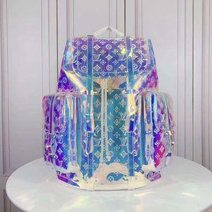 Vente chaude en cuir design de luxe nouveau cristal coloré sac à main dames sac à main sac à dos hommes sac à dos transparent Sac à dos 53286