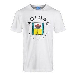 Yeni kısa kollu trend moda gevşek yuvarlak boyun T-shirt erkekler ve kadınlar ile mektup baskı yaz must-haveon