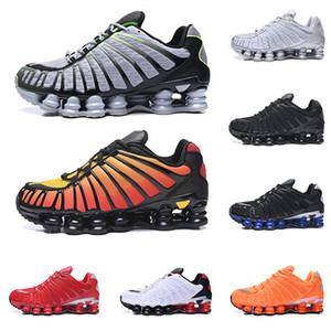 2020 nike shox TL erkekler koşu ayakkabı üçlü siyah Yetiştirilen Sunrise Kil Turuncu kireç Patlama Metalik gümüş Hız kırmızı erkek eğitmen moda spor sneakers