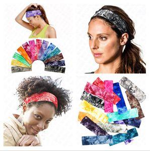 yoga faixa de cabelo tie-dye algodão estampado cabeça elásticos Headbands Mulheres Meninas Marca Cabelo Flores headwraps Turban Headwear D62906