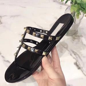 New Color Paris Luxusdesigner Sliders Frauen Sommer Sandalen Strand Slide Slippers Damen Flip Flops Loafers Sky Blue Chaussures