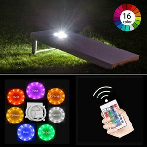 Electop Cornhole LED Lights Ultra Bright Board Corn Hole Lights 16 Color Changing with Remote Control Board Ring Lights for Family Backyar