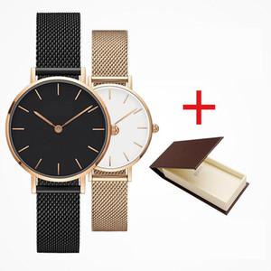 2019 Top lusso della moda Daniel donne uomini di Wellington DW Amanti di orologi di marca mens oro maglia di acciaio montre femme relojes