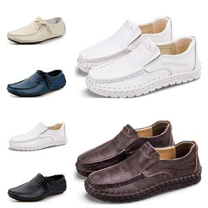 Mens Running shoes fashion sports men sneaker black white brown dark blue gray creamy white comfortable athletic dress trainer sneaker 84