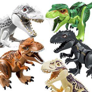 쥬라기 공룡 DIY 어셈블리 빌딩 블록 디노 완구 쥬라기 세계 벽돌 크리스마스 생일 선물 교육 장난감 레고
