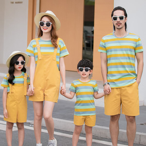 Family matching outfits Father Son T-Shirts Short Pants mommy and me outfits Summer Family Men Boy Family Matching Outfits Women Girl Set