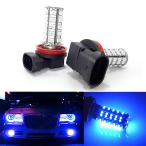 2PCS H11 68 SMD Car Auto Fog Daytime Driving Light DRL LED Bulb Lamps Super Blue