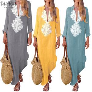 Frühling Kleid Muslim Wrinkled gerades Kleid Langarm Abaya Lange Roben Tunika Middle Ramadan Arabische Islamische Kleidung