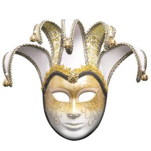 Korku Maskesi 2019 Tam Yüz Venedikli Joker Korku Korku Maskesi Masquerade Tiyatrosu Mardi Gras Parti Topu K506